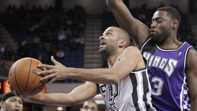 Tony Parker vs Kings 19 feb
