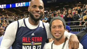 NBA All Star Game: Ronaldinho entró a la duela, ¿con qué motivo?